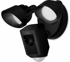 Ring Floodlight Cam with Built-in Floodlights and Siren Alarm - Black (8SF1P7-BEN0)