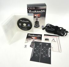ROCKSMITH SONY PS3 GAME BUNDLE WITH UBISOFT REAL TONE CABLE STICKERS & INSERTS