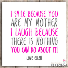 Personalised Mothers Day Card Mum Mummy Mother's Day Birthday Funny Cheeky Joke1