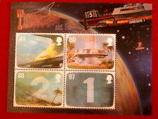 THUNDERBIRDS - Set of 4 Lenticular Postage Stamps - Gerry Anderson - Royal Mail