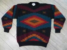 vintage INDIAN PRINT navajo southwestern WOOL sweater XL blanket aztec rrl KNIT