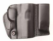 BLACKHAWK Leather Slide Holster W/ Mag Pouch COLT GOVT/COMM OFFICERS 420201BK-L