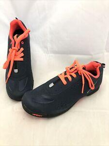 Louis Garneau Women's Urban Cycling Shoes Dark Night Black Coral Size 6.5 EU 37