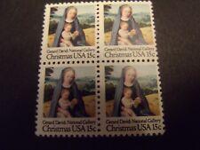US Postage Stamp 1980 Christmas Gerard David Madonna & Child Scott 1799 4 -15c