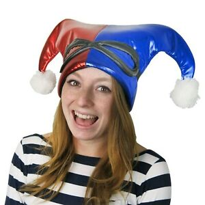 Harley Quinn Red and Blue Jester Hat Red