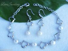 Silver Plated Anniversary Fine Pearl Jewellery Sets