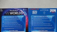 PS4 VR PSVR Games Bundle,Skyrim VR,Doom VR,Astro Bot Rescue VR,Wipeout VR Worlds