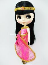 PINK INDIA SARI SAREE DRESS HEADBAND FOR NEO BLYTHE DOLL ASPINNO-146