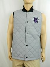 NEW Adidas Gray Quilted Puffer Vest Jacket Sleeveless Coat Large