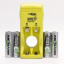 ANSMANN MAX e Charger Set - 4 AA NiMH 2500 mAh BATTERIES & CHARGER