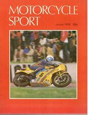 1979 JANUARY 31100 Motorcycle Sport Magazine Cover Picture  STEVE PARISH
