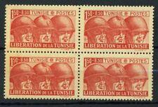 Tunisia 1944 Yv. 249 MNH 100% Block of four Tunisie