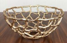 Gold Decorative Bowl Kitchen Cyan Designs 08079 Small Enigma Container Decor