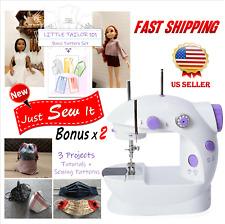 Mini Sewing Machine Electric Easy DIY Small Work Kids/Beginners + Free Tutorials