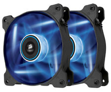 Corsair Air 120mm Computer Case Fan with Blue LED- Twin Pack