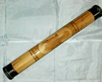 Vintage Hand Made Bamboo Rain Stick 50 CM Carved Turtle Percussion INSTRUMENT