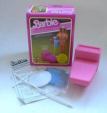 Vintage Mattel Barbie Dream Furniture Commode & Towel Rack Toilet Mib 1982