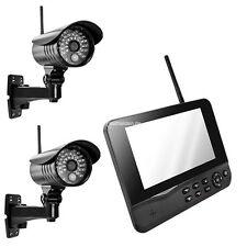 Funk Videoüberwachung Überwachungssystem Funküberwachung 2 Kamera VIDEO 4 Kanal