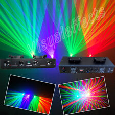 NEW 4len RGV Quad 260mW  Disco DMX dj Laser Light  show projector equipment