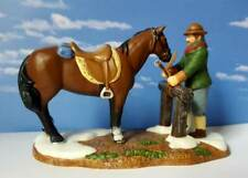 Dept 56 New England Village The Hitching Post! Horse, Excellent
