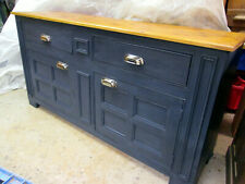 Pine dresser base antique country style painted drawers server cabinet