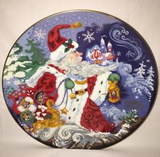 """Fitz And Floyd """"Father Frost and the Celebration of Winter"""" 1st Ed1993 Plate Euc"""