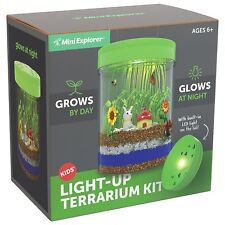 Light-up Terrarium Kit for Kids with LED Light on Lid - Great Science Gift