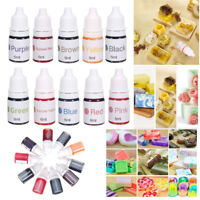 10 Colors Dyes Soap Making Coloring Set Liquid Kit Colorants For DIY Bath Bomb I