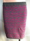 BNWT Ladies Sz M/12 Mix Brand Chevron Print Soft Stretch Knit Winter Mini Skirt