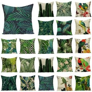 Tropical decoration pillow cover Green outdoor cushions plant cushions Custom