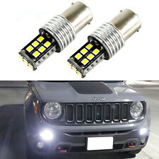 2X 6000K Xenon White 15-SMD LED Daytime Running Lights For 2015-up Jeep Renegade