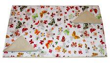 Tovaglia RUNNER cotone x 2 + 2 tovaglioli farfalle beige