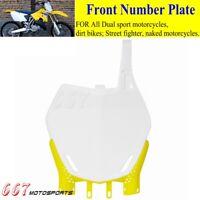 Acerbis Suzuki RMZ250 RMZ450 2008-2018 Front MX Number Plate White 2113630002