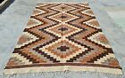 Authentic Hand Knotted Bulgaria Wool Kilim Kilm Area Rug 6 x 4 Ft (10107 KBN)