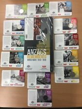 2015 20 CENT COIN SET - ANZAC COLLECTION WITH FOLDER 14 COINS - LIMITED RELEASE