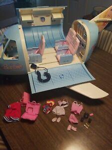 1999 Barbie Blue Jet Plane Airplane Jumbo #22007 Mattel Microphone Toy Vintage