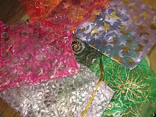 ORGANZA BAGS, GIFTS PACKING ASSORTED COLORS 100 BAGS SIZE 12 X 9 CM