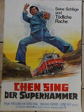 Kinoplakat CHEN SING DER SUPERHAMMER Kin Lung Peltzer Plakat Eastern
