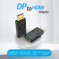 Premium DP to HDMI Adapter Display Port Male to HDMI Female Converter for PC MAC