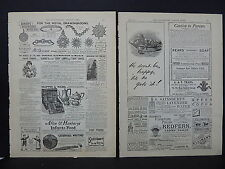 Illustrated London News Ads Two Pages c.1888 S3#5 Pears' Soap, Mappin & Webb