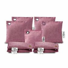 Bamboo Charcoal Air Purifying Bag (9-Pack) 50g, 60g & 100g Air Freshener in Pink