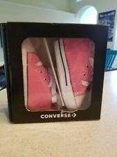 CONVERSE NEWBORN CRIB Pink 88871 FIRST ALL STAR BABY GIRL SHOES SIZE 3