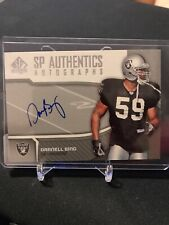 2006 Sp Authentic Rookie Darnell Bing Auto! RC Raiders