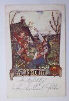 """""""Deutscher Schulverein, Ostern, Kinder, Hase, Küken"""" 1918 ♥"""