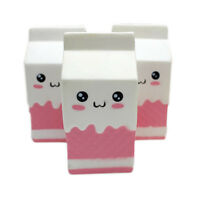 Squishy Milk Carton Straps Slow Rising Soft Stress Reliever Bread Kids Toy Funny