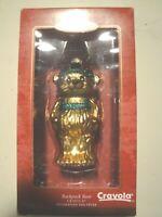 HALLMARK KEEPSAKE CHRISTMAS ORNAMENT - Crayola Backpack Bear - Blown Glass