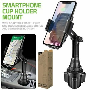 Adjustable 360 Car Cup Holder Cell Phone Mount Cradle Universal Stand By Cellet