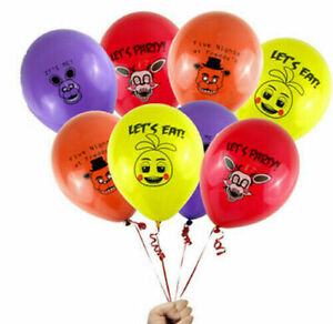 """10 X 12"""" FIVE NIGHTS AT FREDDY'S Colour Latex Printed Balloons Birthday Party"""