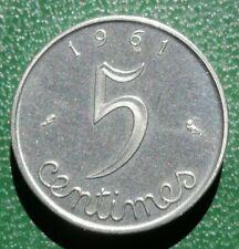 Piéfort de 5 centimes Épi 1961 Monnaie France frappe monnaie - 500 ex.