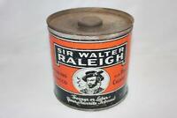 Vintage Sir Walter Raleigh Smoking Tobacco Tin Brown & Wiliamson Tobacco Corp